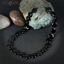 KCALOE Black Onyx Fashion Necklaces For Women 2017 New Jewelry Round Design Handmade Natural Stone Vintage Necklace Colar