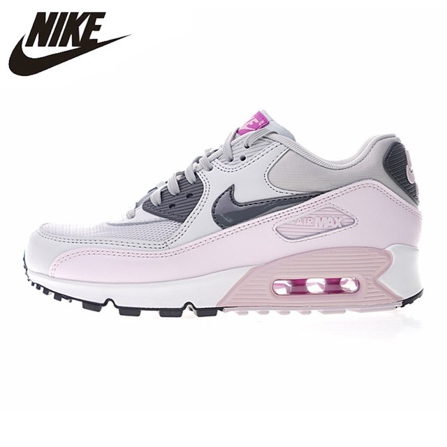Nike Air Max 90 Women's Running Shoes,Outdoor Sneakers Shoes, Pink, Abrasion Breathable Resistant Shock Absorption 616730 112