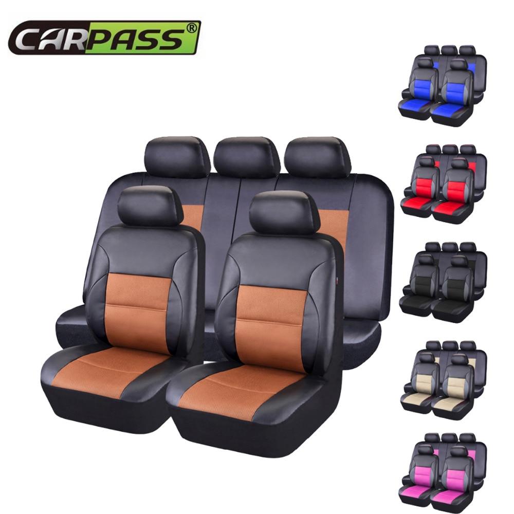 Auto-pass Universal Auto Sitzbezüge Pvc Leder Sitzbezüge Kissen Innen Zubehör Für Die Meisten Autos Mit 3 Zipper