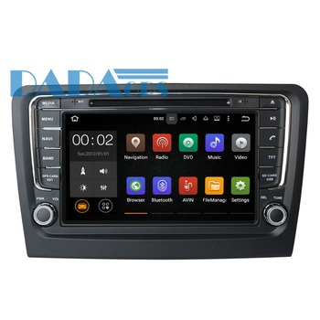 Car DVD player GPS navigation For Skoda Rapid 2013-2018 multimedia auto radio tape recorder Android 9 4+32GB head unit Stereo