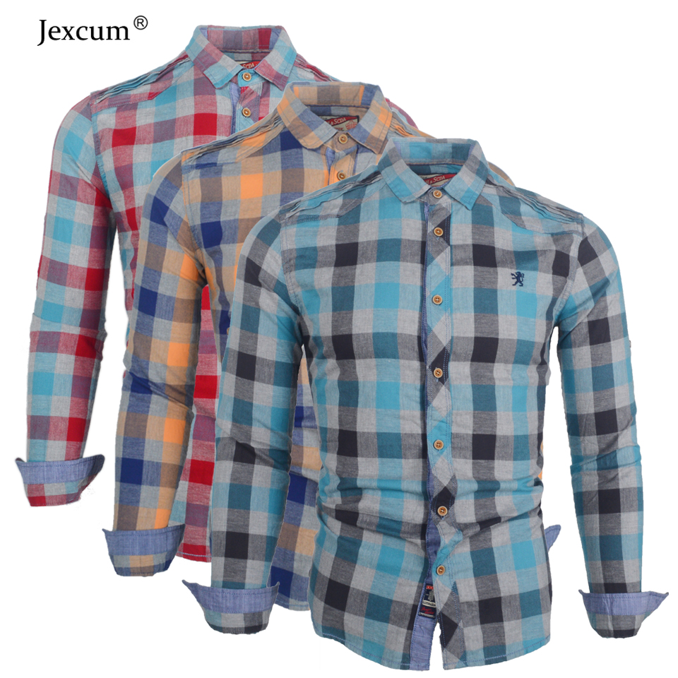 Men's Shirt Plaid Casual Shirt 2018 New Pattern Men's Clothing Fashion Slim Streetwear Social Long-sleeved Shirts for Men