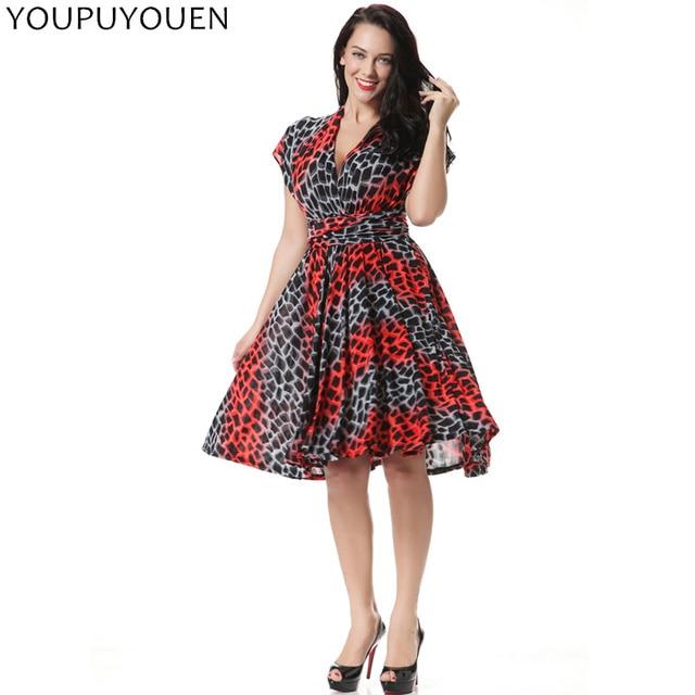 3dd91b1a83fa YOUPUYOUEN Plus Size Skater Dress Sexy Multi-Worn Summer Party Dresses  Bohemian Tunic Boho Beach Wear 2017 Women Print Sundress