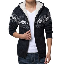 Lisli Winter New Thick Christmas sweater Casual Fashion Man Sweater men clothing brand man Cardigan Fleece Warm Winter 01S0230