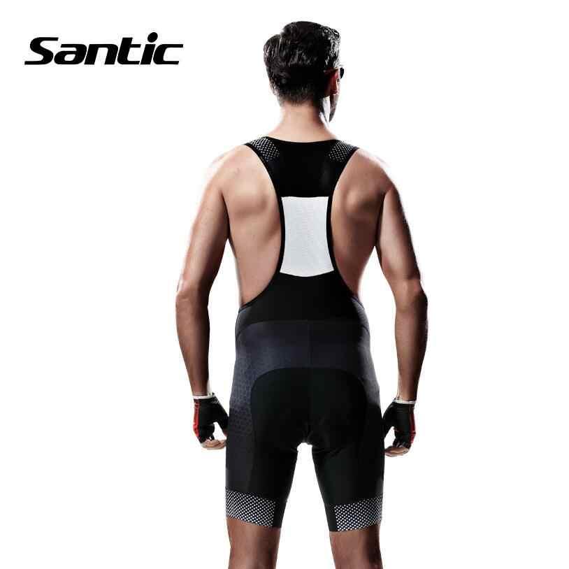 산티크 남자 사이클링 반바지 통기성 메쉬 자전거 자전거 턱받이 반바지 + 4d 패딩 스판덱스 mtb 반바지 telle lle ciclismo