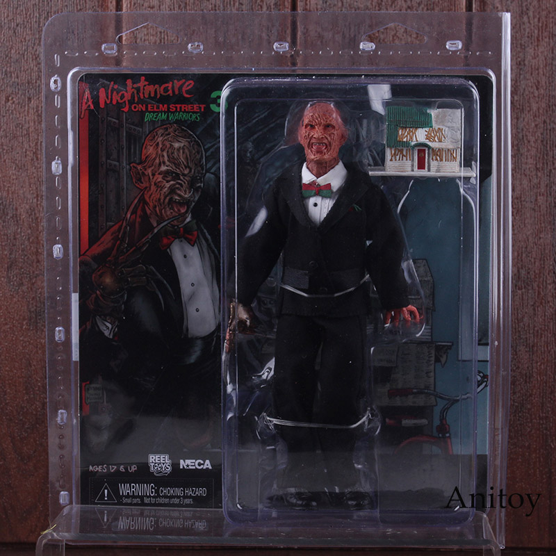 NECA A Nightmare on Elm Street 3 Dream Warriors Freddy Krueger & Light-up House PVC Horror Action Figures Collectible Model Toy 1