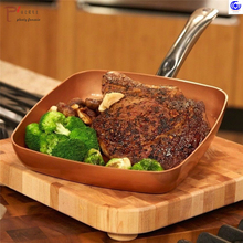Non-stick Copper color Frying Pan with Ceramic Coating and Induction cooking Oven & Dishwasher safe 8 -10-12 inches glass lid frying pan griddle kukmara tradition 24 cm with non stick coating with removable handle