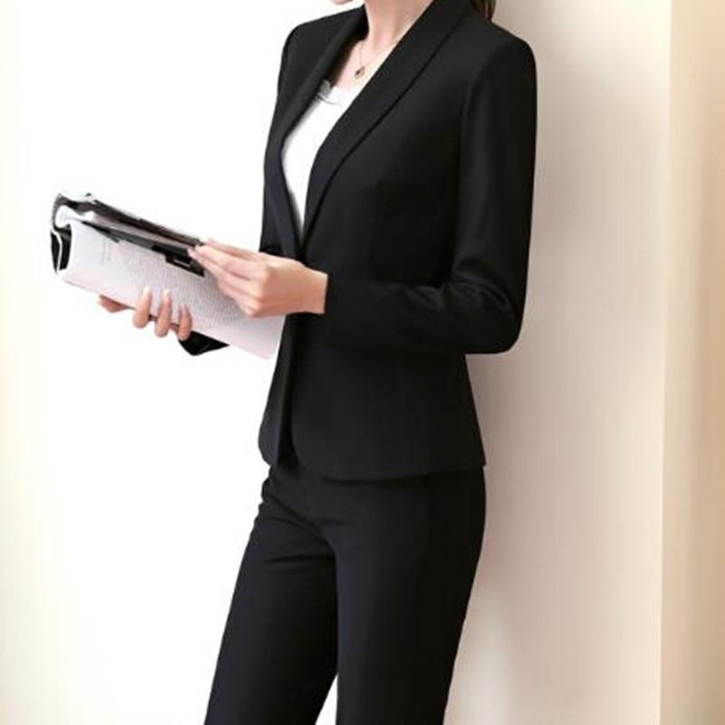 De Costume Bouton Formel Suit Pantalon veste Affaires Femmes Solide New Simple piece Color Mince photo Deux Hot Card Couleur Color Personnalisé q6wFBxpq