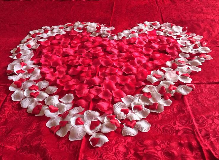 (100 Pcs/Pack) 25 Color Option Soft Thin Cloth Artificial Flowers Wedding Decoration Wedding Ceremony Ground Petal