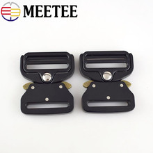 Meetee 38mm Webbing Strap Quick Side Release Metal Buckles Clip Clasp Tactical Belt Shackle for Bags Clothes Accessories