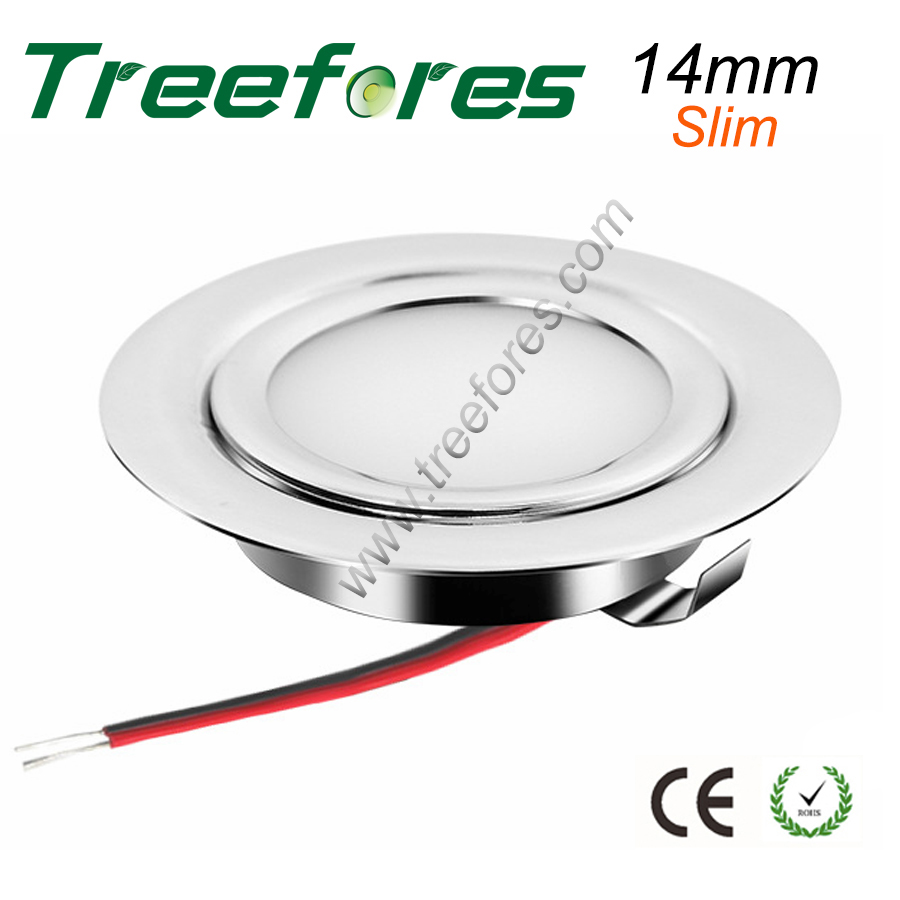 Stainless Steel 3W 12V DC LED Ceiling Spotlight For Kitchen Dining Lighting Lamp CE RoHS 14mm Slim Lamp