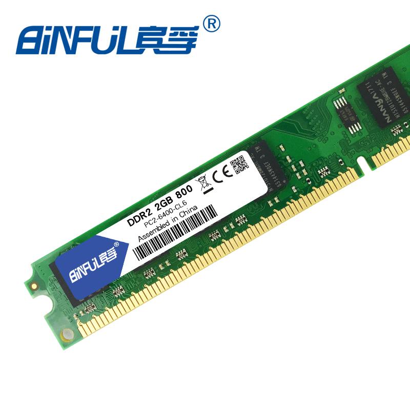 Binful Original Brand New ddr2 1GB 2GB 800MHz/667MHz pc2-6400 for Desktop RAM memory pc2-5300 1.8V 240Pin non-ECC brand new ddr2 2gb 800mhz pc 6400 2 gb 2g memory ram memoria for desktop pc free shipping