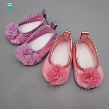 7.5cm Mini toy baby shoes for doll fit 45cm American and 43cm new born accessories