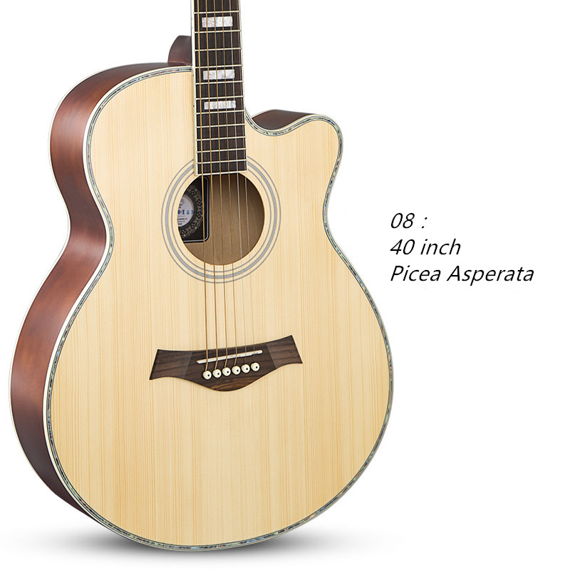 Acoustic Guitar 40 Inch Folk  Six Strings of Linden Wood Guitar Rosewood Closed Knob Picea Asperata 38 inch folk guitar to send full color gifts string linden wood guitar six strings with free shipping