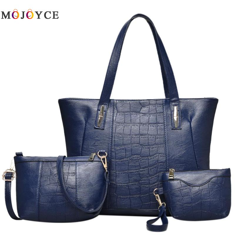 3pcs Famous Brand Women Bag Ladies Shoulder Bags PU Leather Female Handbags Large Capacity Casual Tote Bolsa Feminina high quality pu leather bags women floral handbags famous brand clutch purses ladies tote bolsa feminina classic grain top bag