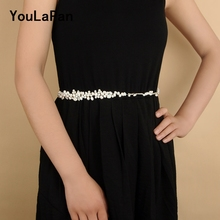 YouLaPan SH125 Wedding Sash Women Belt Wedding Belt Bridal Belts Freshwater Pearls Bridal Sash Wedding Accessories Thin Belts