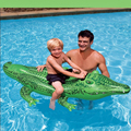 child children kids large swimming inflatable pool alligator swimming float green kids seat fun pool toys