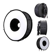 45cm Speedlite Flash Diffuser Portable Round Softbox Macro Shoot Round Ring for Sony Canon Nikon YONGNUO Photography Accessories
