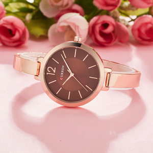 Image 3 - CURREN montre Bracelet à Quartz pour femmes, Bracelet en acier inoxydable, cadeau tendance, collection montre pour femme
