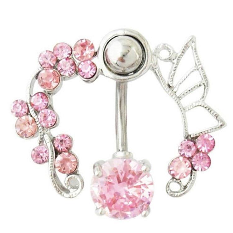 HTB1H9TfIFXXXXaGXVXXq6xXFXXXE Enchanting Butterfly Garden Hollow Belly Button Ring For Women - 2 Colors