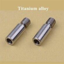 2 قطعة سوبر السلس V6 Kraken سبائك التيتانيوم الحرارة كسر الحلق Chimera/Cyclops TC4 الحرارية برميل 1.75 مللي متر ثلاثية الأبعاد طابعة
