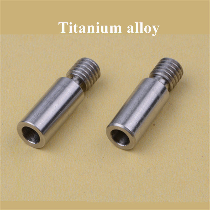 2pcs Super Smooth V6 Kraken Titanium Alloy Heat Break Throat Chimera/Cyclops TC4 Thermal Barrel 1.75mm 3d Printer