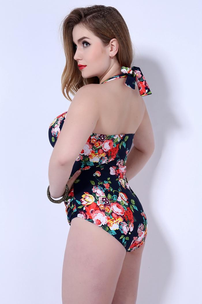 hot New push up one piece swimsuit women plus size swimwear Russian swimming suit large big size beachwear 23