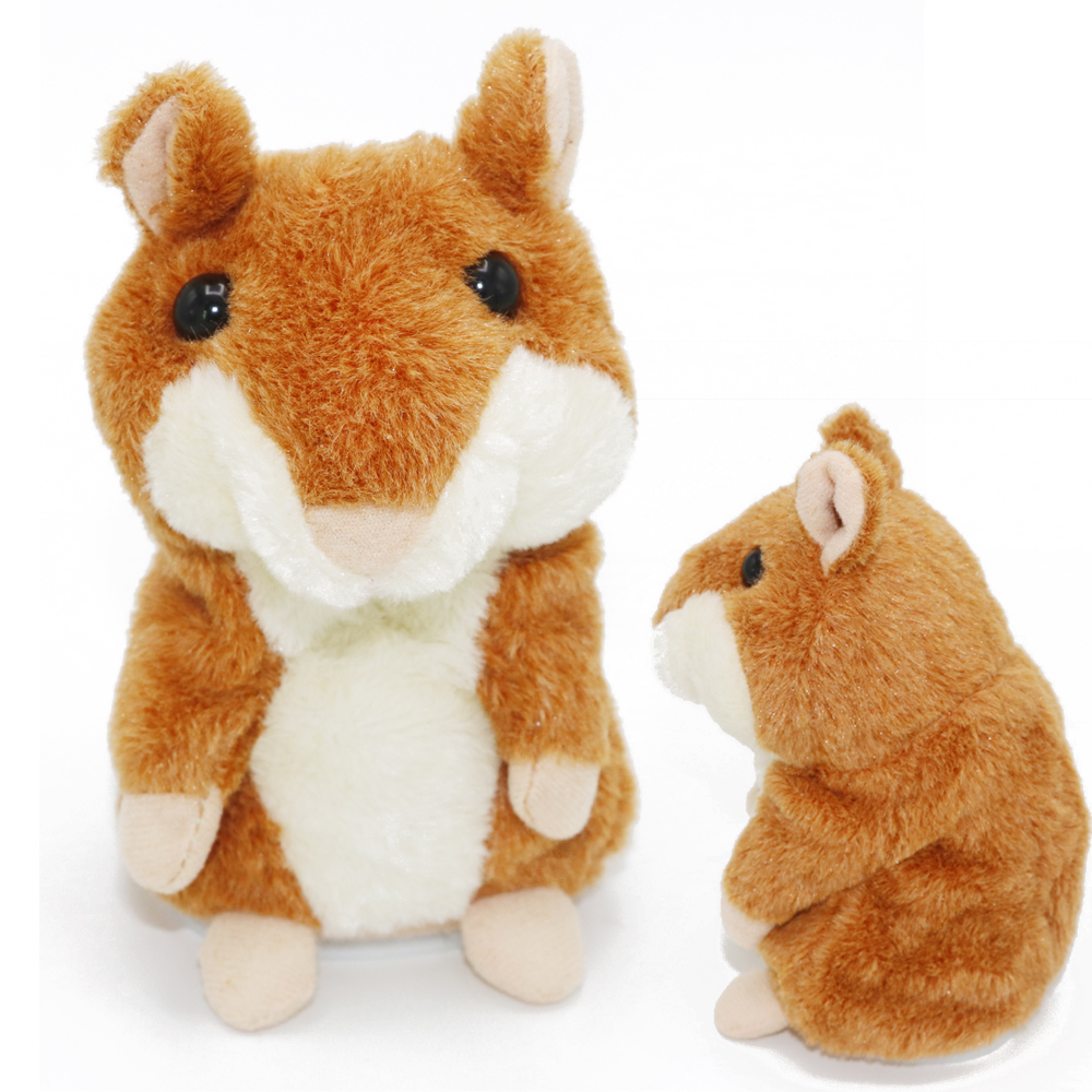 1pcs Lovely Talking Hamster Plush Toy Hot Cute Speak Talking Sound Record Hamster