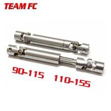 цены 2pcs 90-115mm 110-155mm Steel CVD Universal Joint Drive Shaft for 1/10 RC Rock Crawler Car SCX10 D90 S272