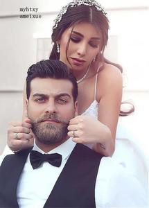 Image 2 - Backless Vestido De Noiva 2020 Cheap Wedding Dress Ball Gown Spaghetti Straps Satin Boho Dubai Arabic Wedding Gown Bridal