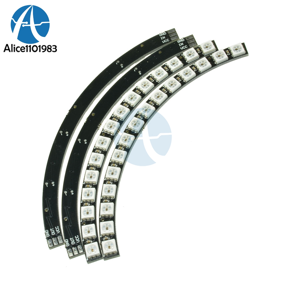 Ring Wall Clock 60 X Ultra Bright WS2812 5050 RGB LED Lamp Panel For Arduino With Integrated Drivers 60 Bright WS2812