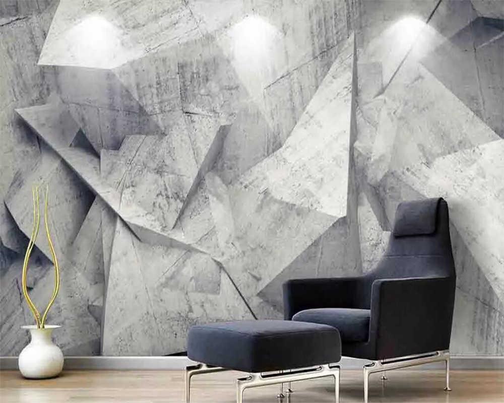 Wellyu מותאם אישית 3d טפט נורדי מינימליסטי מופשט קו גיאומטריה 3d ציורי קיר השיש טלוויזיה רקע ניירות קיר בית תפאורה 3d