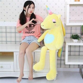 60-160 см Новый большой мягкий Единорог животное плюшевая игрушка мягкая игрушка подарок для маленькой девочки детская игрушка диванная Поду...