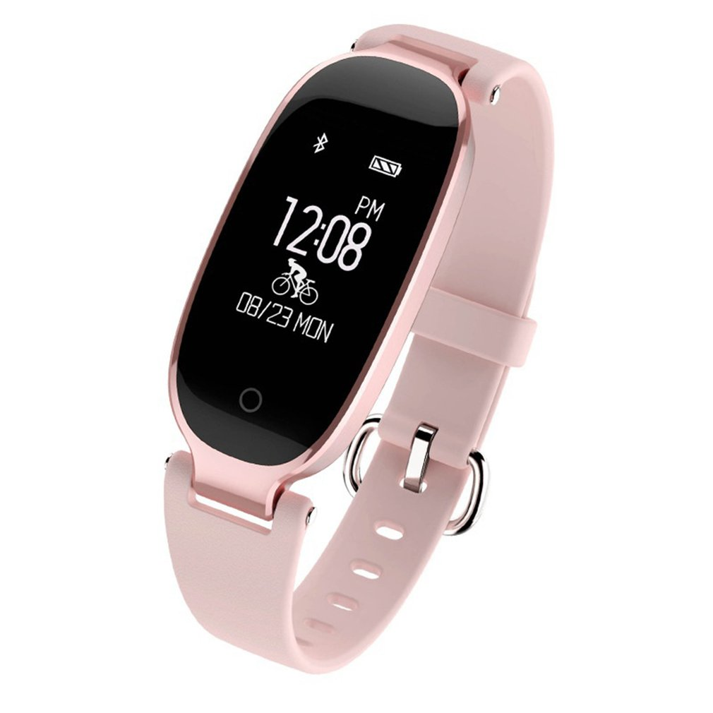 S3 Bluetooth Smart Bracelet IP67 Waterproof Girl Women Heart Rate Monitor Wrist Watch Smartband Lady Female Fitness Tracker New