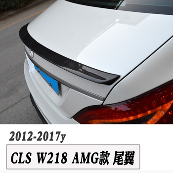 Carbon Fiber Rear spoiler Boot lip wing Car Trunk Trim Sticker for Benz CLS W218 2012-2014 Car Styling
