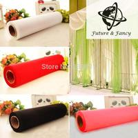 5 Rolls/lot , NEW 70CM X 27M 1 Roll CRYSTAL ORGANZA ROLL SHEER FABRIC WEDDING PARTY CHAIR BOW, Many color Options
