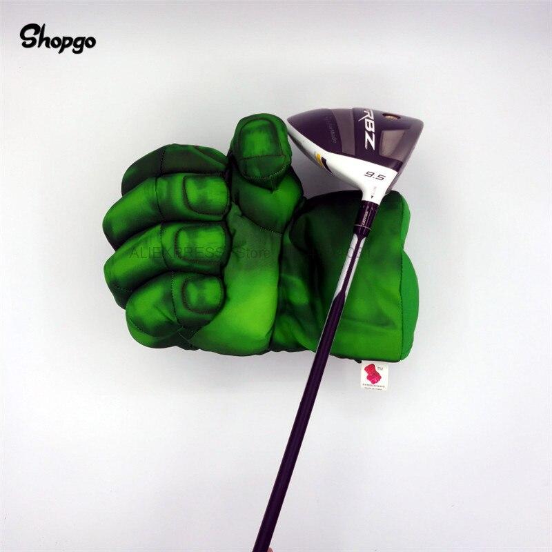 Grün Hand Die Faust Golf Fahrer Headcover 460cc Boxen Holz Golf Abdeckung Golf Club Zubehör Neuheit Großes Geschenk