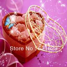 Heart-shaped candy 8'x8′ CP Computer-painted Scenic Photography Background Photo Studio Backdrop ZJZ-163