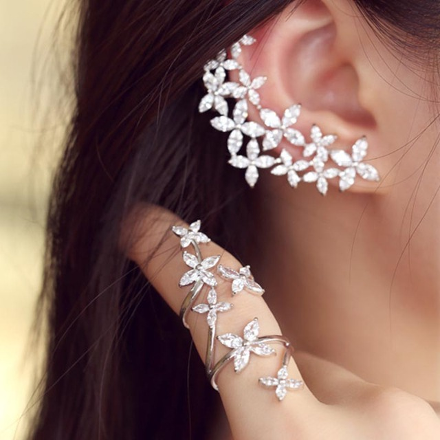 925 Sterling Silver Stylish Flower Ring