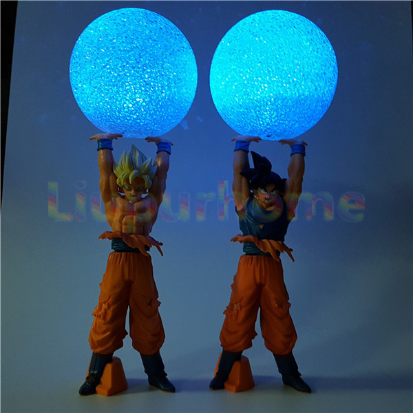 Dragon Ball Z Son Goku Spirit Bomb DIY Led Night Lights Lamp Anime Dragon Ball DBZ Led Light Christmas Decor