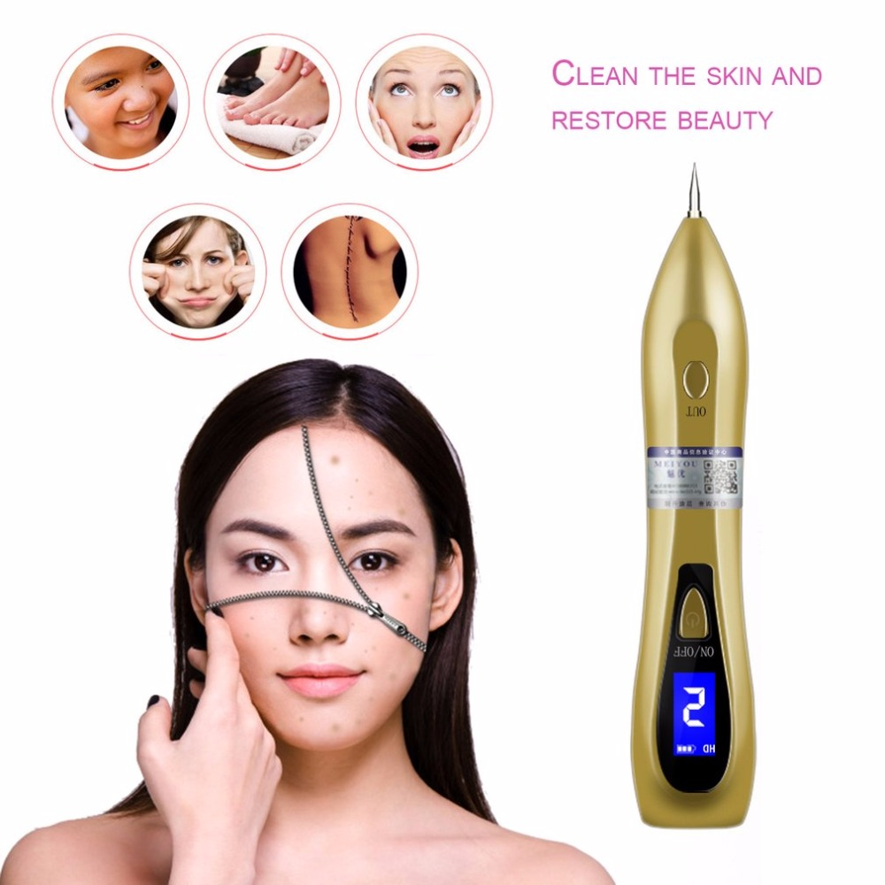 LCD Display Laser Freckle Moles Removal Pen USB Rechargeable LCD Display Sweep Dark Spot Dot Mole Remover Machine Face Skin Care usb laser freckle removal machine skin mole removal dark spot remover for face wart tag tattoo remaval pen salon home care