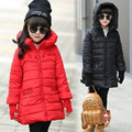 Girls Winter Jackets Cotton Padded Coats For Girls Children Clothing Thicken Hooded Parkas 2016 Brand Kids Outerwear 5 7 9 11 12