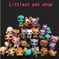 Presentes de natal brinquedo 10 pçs/saco pouco pet shop figuras mini brinquedos lps littlest animais cat dog patrulla canina figuras de ação d046