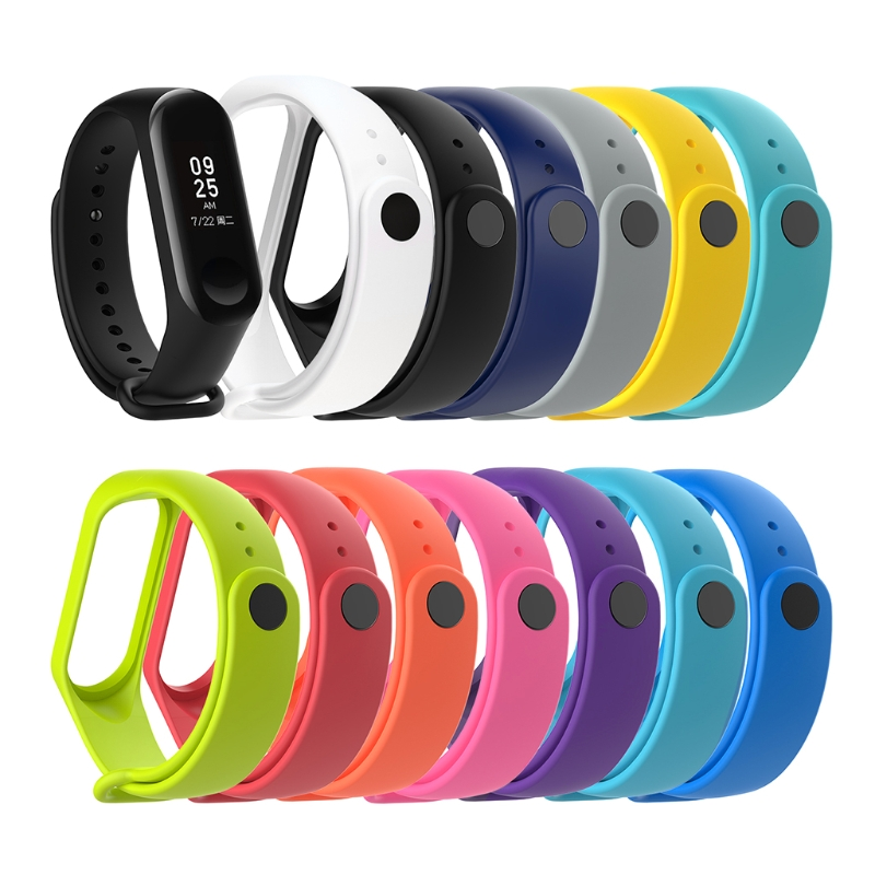 <font><b>Silicone</b></font> <font><b>Bracelet</b></font> For Xiaomi <font><b>Mi</b></font> <font><b>Band</b></font> <font><b>3</b></font> <font><b>4</b></font> Sport <font><b>Strap</b></font> Watch <font><b>Wristband</b></font> Smart Accessories Colorful image