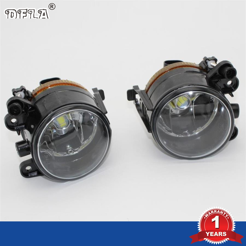DFLA Car LED Light For VW Golf 5 Golf MK5 2004 2005 2006 2007 2008 2009 New Front LED Fog Light Fog Lamp With LED Bulbs dfla car light for vw passat b6 car styling 2006 2007 2008 2009 2010 2011 new front halogen fog light fog lamp