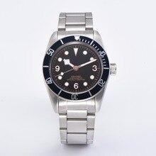 Relógio CORGEUT 41mm preto cristal de safira mostrador luminoso do relógio de marca doce romântico luxo marca Miyota movimento automático homens A17