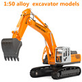 1:50 aleación de vehículos de ingeniería, alta simulación modelo de excavadora, juguetes educativos para niños, metal funde, envío gratis