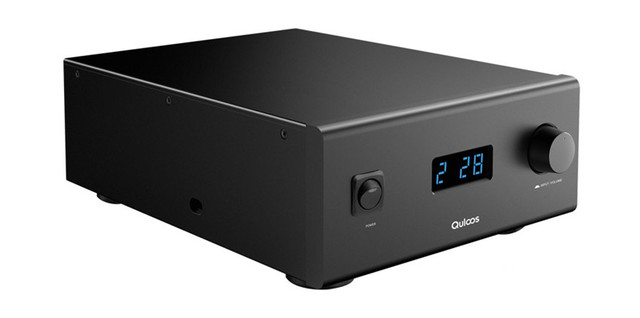 QLS HIFI QA690 Pure Full Digital Audio Amplifier Input PC USB/Coaxial*2/Optical/RCA Power Handle 160W*2 Support DSD 24Bit/192KHz 5