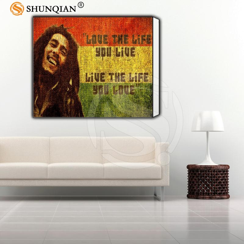 Tienda Online Personalizado Enmarcado Imagen Bob Marley Clásico ...