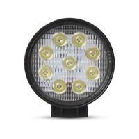 Rotonda 27 W LED Luce di Lavoro 12 V 24 V OffRoad di Inondazione 60 Gradi fascio/Spot del Fascio 30 Gradi Nebbia di Guida per Camion 4X4 ATV trattore