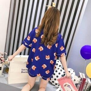 Image 4 - Пижамный комплект Bangtan Boys, летняя пижама с принтом в стиле Харадзюку, кавай, Kpop, аниме, ТАТА в форме сердца, пижама, женская одежда для сна Chimmy Cooky Sleeepwear